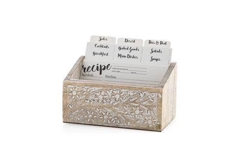 ALVA RECIPE CARD HOLDER,WHITE