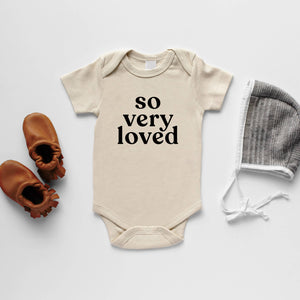 Cream So Very Loved Organic Baby Bodysuit