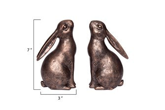 Resin Bunny Bookends