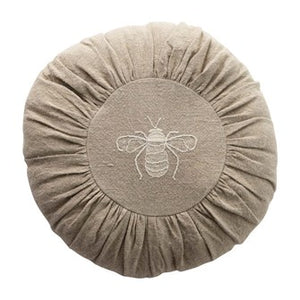 Embroidered Bee Pillow