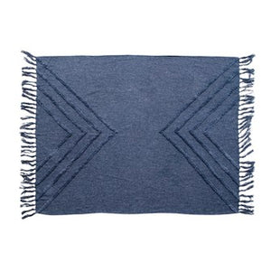 Stonewashed Blue Cotton Throw
