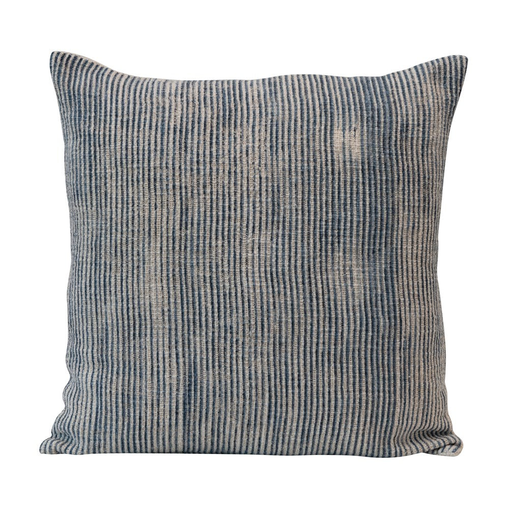 "20"" Stonewashed Blue Stripe Pillow"