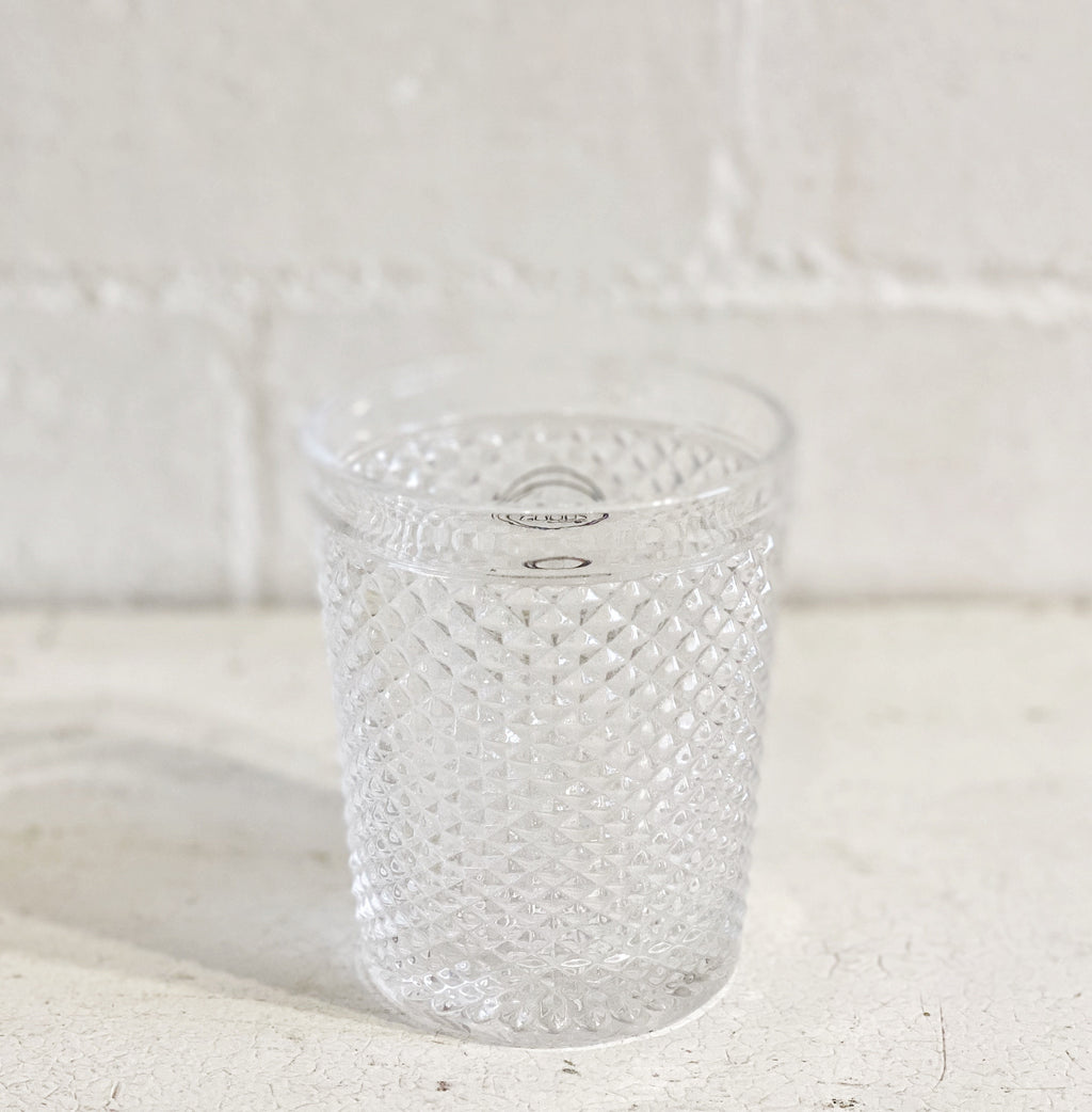 Drinking water glass