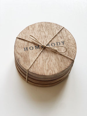 Wood Coaster set of 4