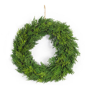 "Dense Cypress Wreath 13""D"