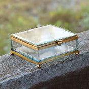 Square Filigree Glass Box