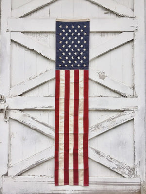 Long Vintage Style American Flag Banner