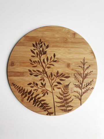 Round Bamboo Serving Cutting Board