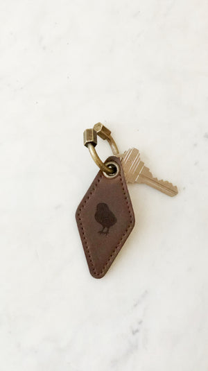 Leather Chick Key Chain