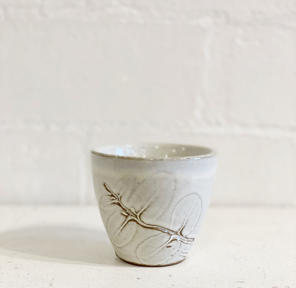 Terra-cotta Cup with Eucalyptus