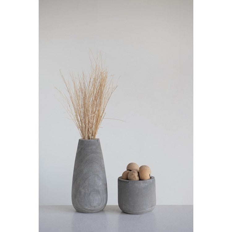 Grey Wash Wood Planter or Vase