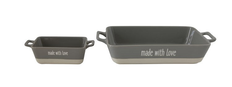 Made with love - stoneware bakers