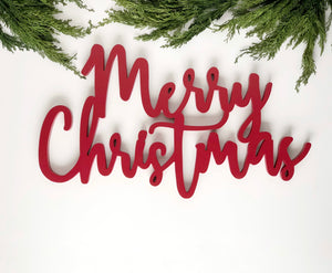 "Merry Christmas Sign 23.5""L x 12.5""H MDF"