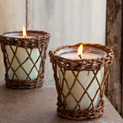 Bundled Evergreen Willow Candle