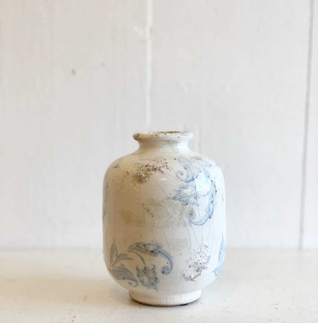 Blue and White Flower Vase