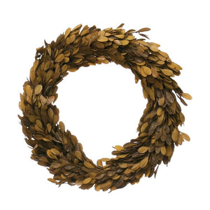 Brown Preserved Boxwood Wreath