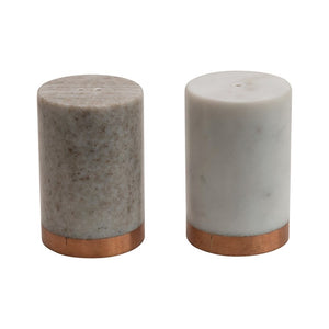 Copper and Marble Salt and Pepper Set
