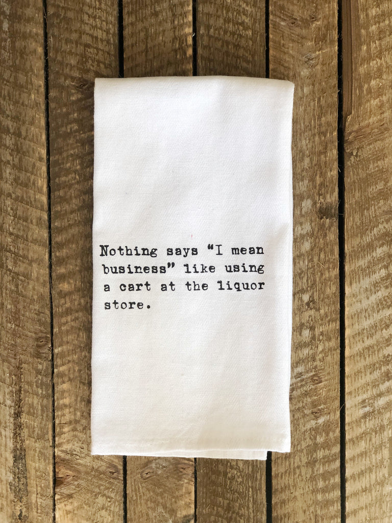 Your Crazy Is Showing You Might Want To Tuck That Back In Funny Flour Sack Kitchen Towel
