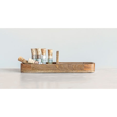 Mango Wood Cracker Tray with Handle