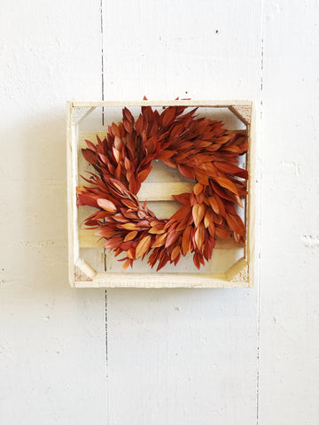 Orange Myrtle Dried Wreath