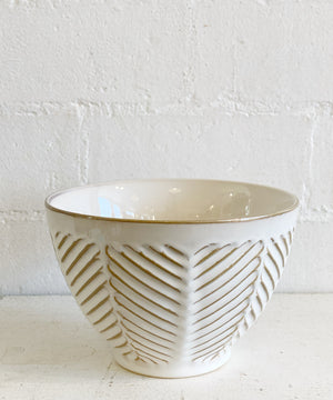 Cream Patterned Bowl