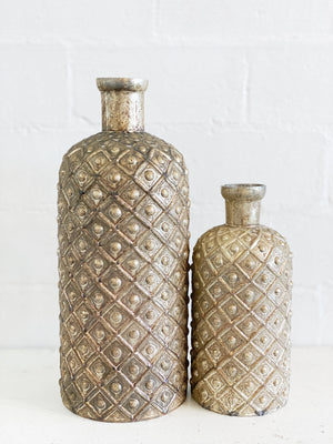 Gold Antiqued Vase