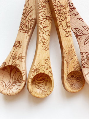 Wood Measuring Spoon Set