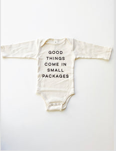 Good Things, Small Packages Baby Bodysuit