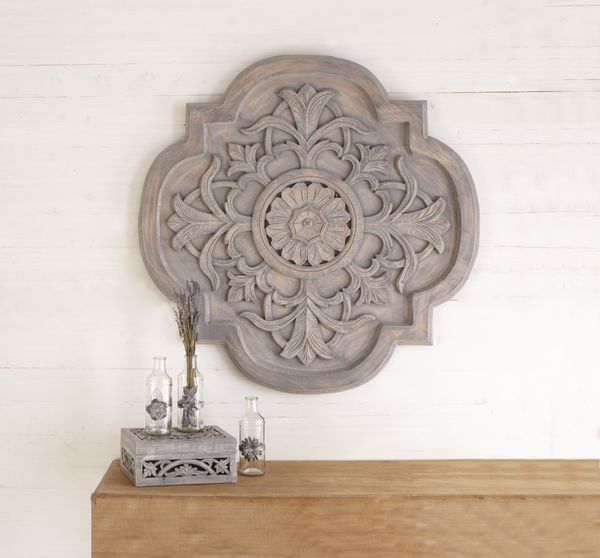 Carved Wall Medallion