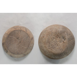 Carved Wood Bowl Wall Decor