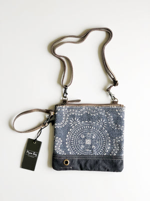 MyraBag Navy Kilim Convertible Cross Body/Wristlet