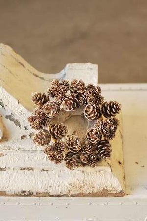 Shimmer Pinecone Wreath