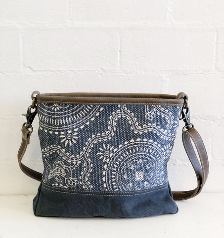 MyraBag navy kilim cross body
