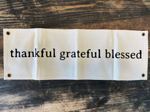 Canvas Wall Decor Thankful-Grateful-Blessed