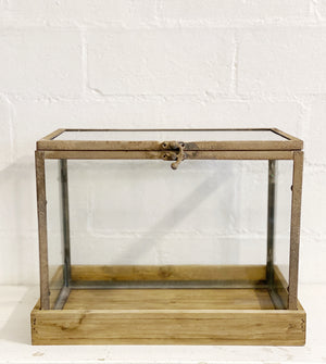 Glass Greenhouse on wood stand
