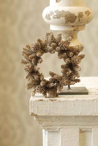 Glittered Pinecone Candle Wreath