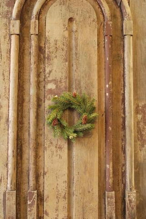 White Spruce Candle Ring Wreath