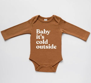 Camel Organic Baby It's Cold Outside Baby Bodysuit