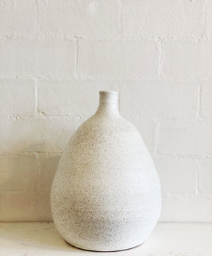 Cream Glazed Vase