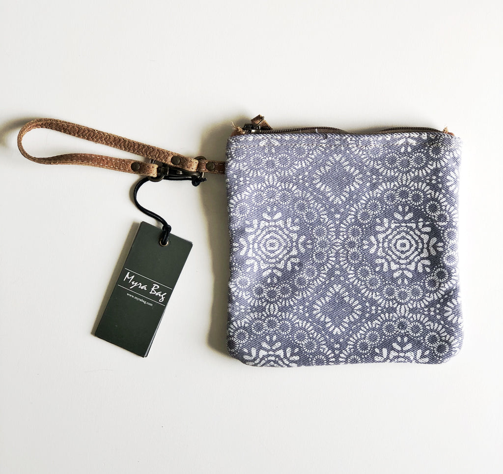 MyraBag Lavender Abstract Print Wristlet
