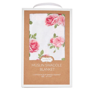 Pink Rose Muslim Swaddle Blanket