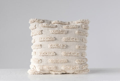 Cotton Woven fringe Pillow