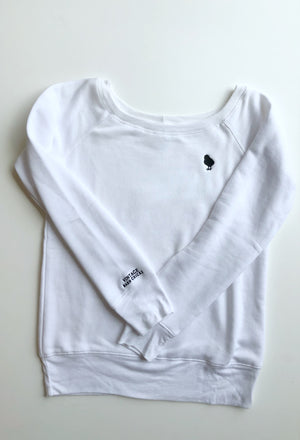 Embroidered Chick Scoop Neck Sweatshirt