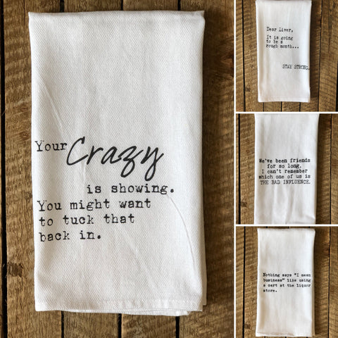 Hilarious Flour Sack Kitchen Towels