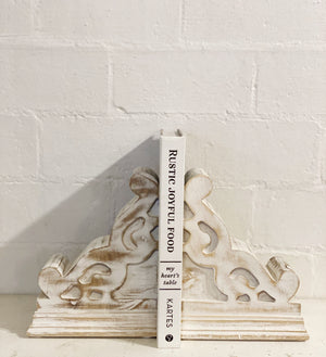 White Corbel Set - Bookends