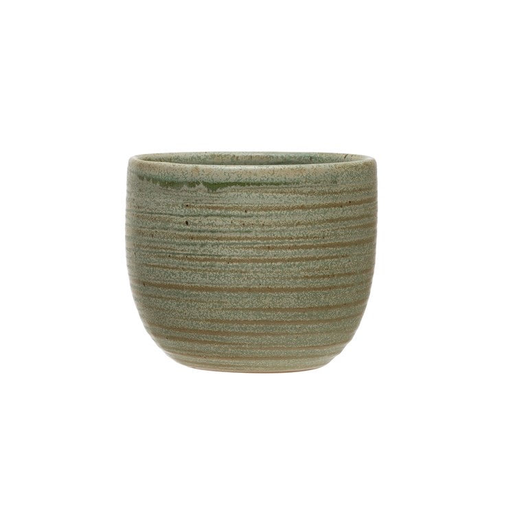 Stoneware cup or pot