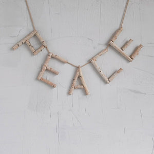 Birch Wood Peace Garland