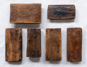Dark Wood Pedestal Board- as found, each vary