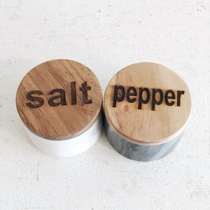 Salt and Pepper Marble Jars