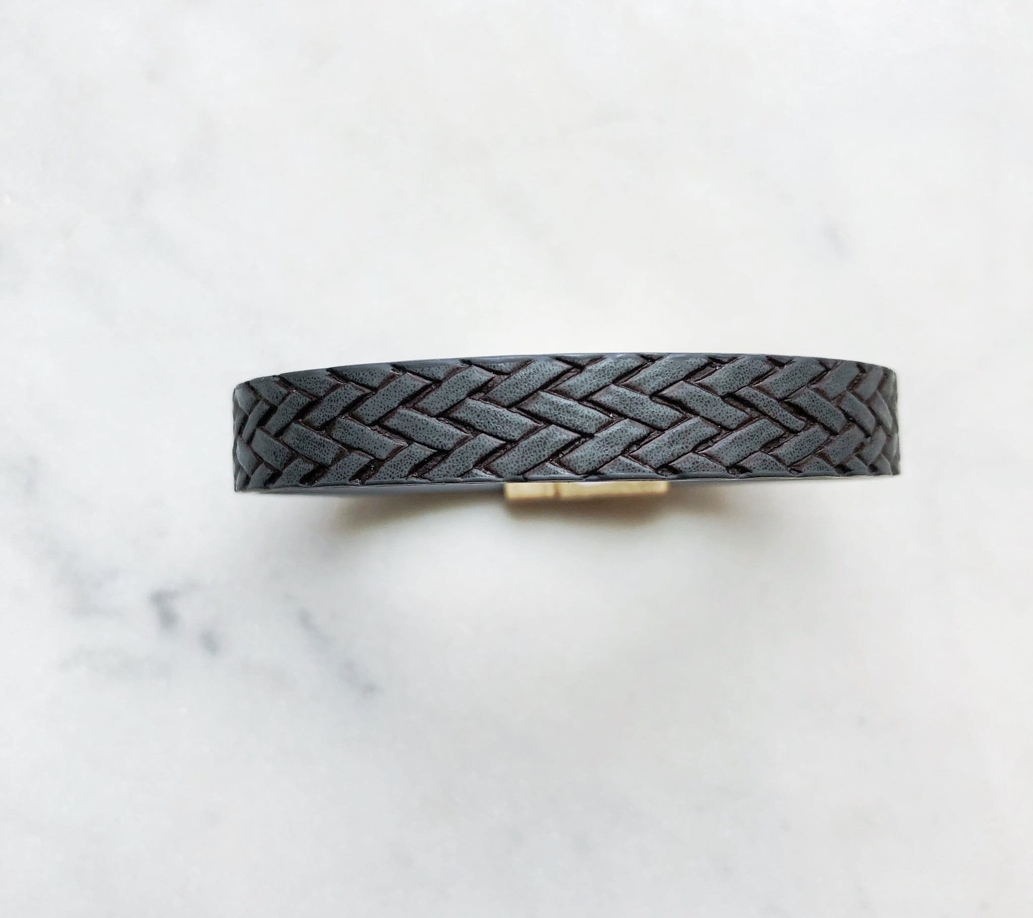 Leather Basketweave Bracelet